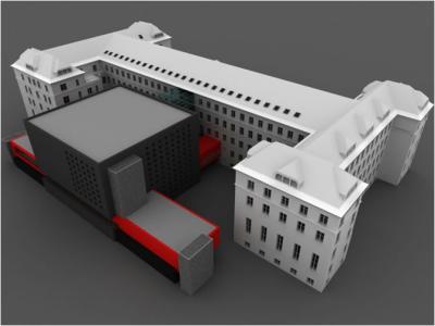 Vizualizace dostavby Pedagogické fakulty UP na Žižkově náměstí Autor - Ateliér R (zdroj: PdF UP)
