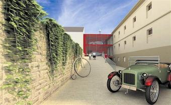 Muzeum karosářství - návrh Projektil architekti