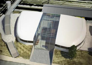 Návrh nového nádraží v Karlových Varech