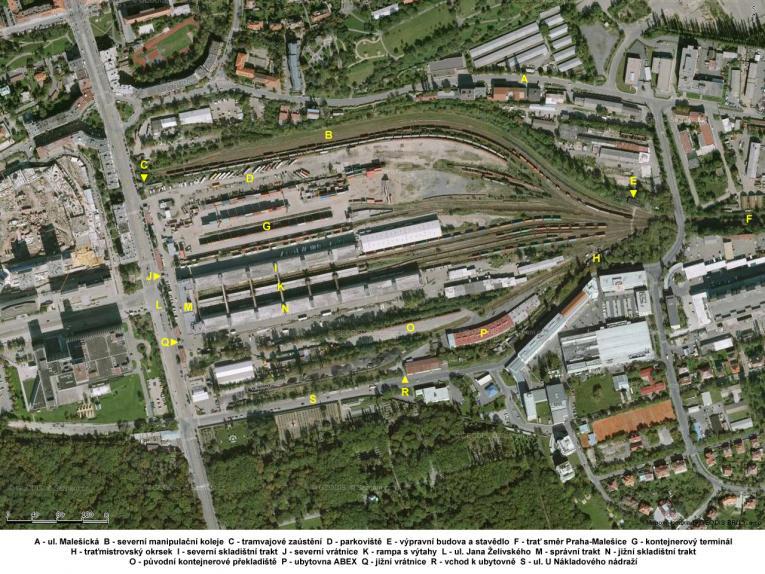 Nákladové nádraží Žižkov (zdroj: vlaky.net)