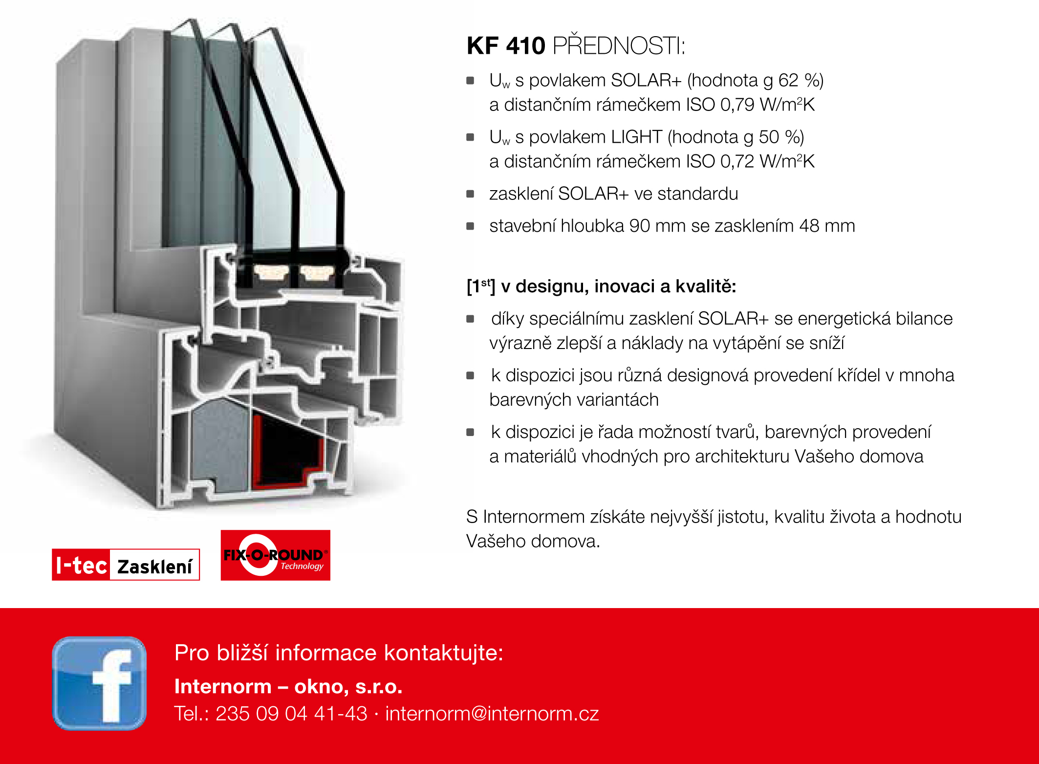 okno kf 410 spole nosti internorm nyn za ak n cenu. Black Bedroom Furniture Sets. Home Design Ideas